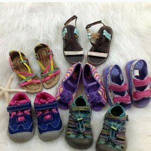 Keen n Carters 7 Lil girls shoes size 8,8.5